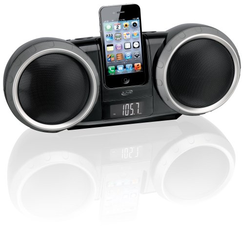 iLive  Portable Boombox FM Radio with Dock for iPhone/iPod - Black