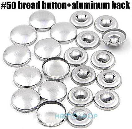 100Pcs insiemi 16-60 tessuto a mano fai da te pulsanti della forma pane rotondo tessuto ricoperto Button Cloth coperchio metallico 4 Indietro pulsanti 13S L16 alluminio back bottom