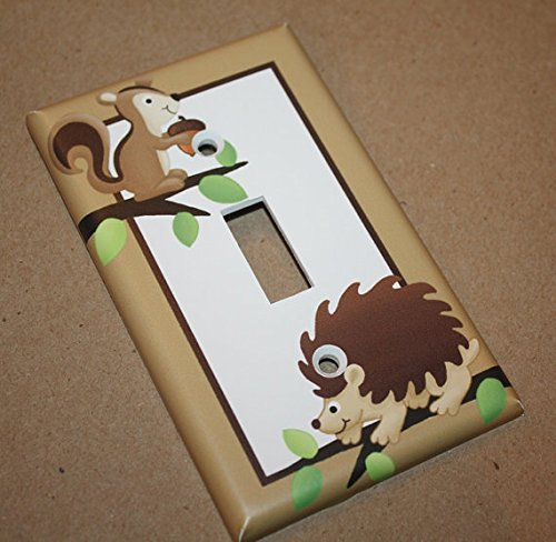 Forest Critters Woodland Animal Boys Bedroom Light Switch Cover LS0022 (Single Outlet) Toad and Lily LS0022c