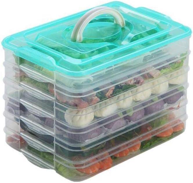 Caja de albóndigas de pescado y camarones congelados gratis caja de plástico transparente de múltiples capas refrigerador de alimentos de plástico crisol de almacenamiento de huevos,3 capas