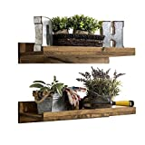 del Hutson Designs Rustic Luxe Shelves (Set of 2) (24″ / 2 FT)