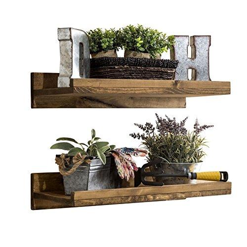 del Hutson Designs Rustic Luxe Shelves (Set of 2) (24″ / 2 FT)