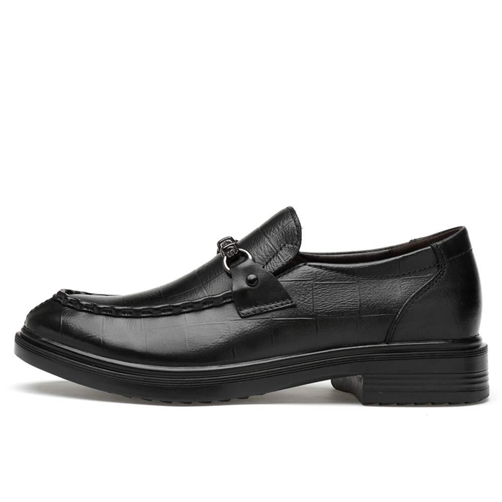 HILOTU Herrenmode Oxford Kleid Schuhe Freizeit Freizeit Freizeit bequem Slip-on Slipper Anti-Rost Metall Prägung Formale Schuhe (konventionell optional)  dc7c73