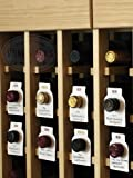 50 Dual-Labeled (Red/White) Wine Cellar Bottle Tags