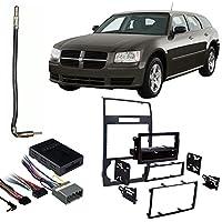 Fits Dodge Magnum 05-07 w/NAV DDIN Harness Radio Dash Kit - Carbon Fiber
