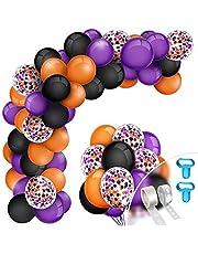 125 stuks Halloween Slinger Ballonnen, Halloween Ballonnen Decoratie Leuke Set met Gereedschap, voor Halloween-Decoratie Feestdecoraties