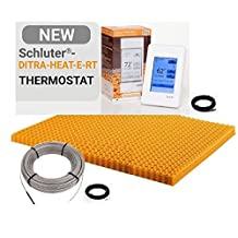 Schluter DITRA HEAT DHEKRT12056 37.5 SF120V KIT Includes Touchscreen Programmable Thermostat,Heating cable, Ditra Heat sheets, 2 Floor sensors