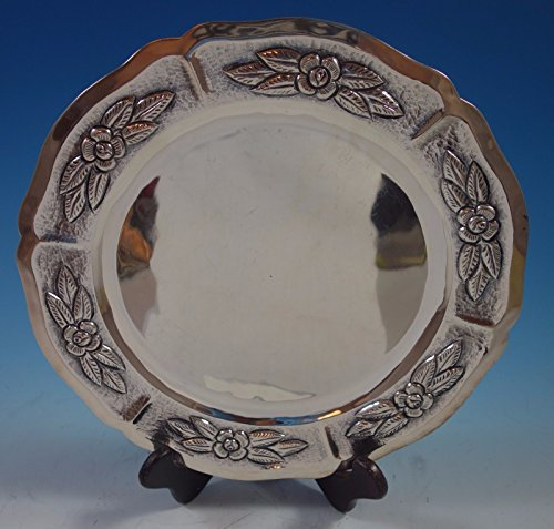 (Aztec Rose by Maciel Mexican Sterling Silver Charger Plate 11
