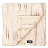 cocoLulu Baby & Toddler Blanket, Premium 3 Layer Cotton, 4 Season Dream Blanket, Oversized 51 x 47inch, Breathable with Rainbow Stitch Design