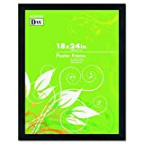 poster frame 24x18 - DAX 2863W2X Black Solid Wood Poster Frames w/Plastic Window, Wide Profile, 18 x 24
