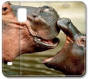 Hippo Baby S5 Case, Samsung Galaxy S5 I9600 Case, Leather Cover for Samsung Galaxy S5 / Galaxy SV / Galaxy S V