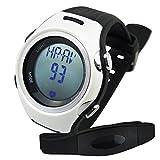 Sleep Walk Run Timer Digital Sports Fitness Watch 40~240bpm Heart Rate Monitor Pedometer Belt Fat Calorie Counter