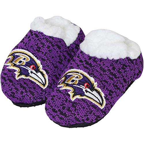Forever Collectibles FOCO NFL Infant Knit Baby Bootie Shoe (Baltimore Ravens, Small -