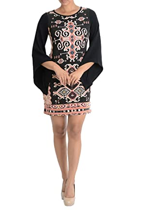 c61d6829bd7 Aryeh Ladies Printed Sweater Dress at Amazon Women s Clothing store