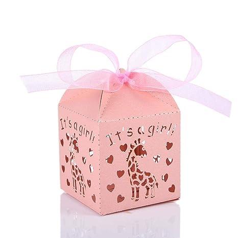 Adminitto88 Cajas de Dulces Caja de Dulces Cajas Huecas de Carro de Corte por láser Cajas de Dulces para ...