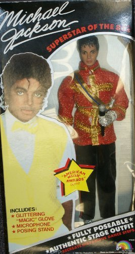 Michael Jackson Superstar of the 80's Ammerican Music Award Outfit doll by LJN -