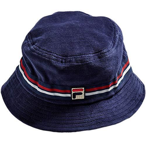 Fila Men's Velour Bucket Hat, Navy, One Size -