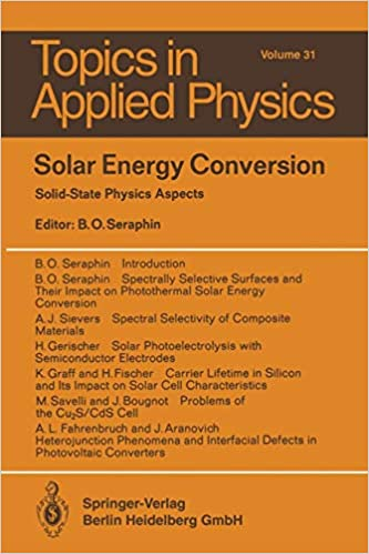 Solar Energy Conversion Solid State Physics Aspects Topics