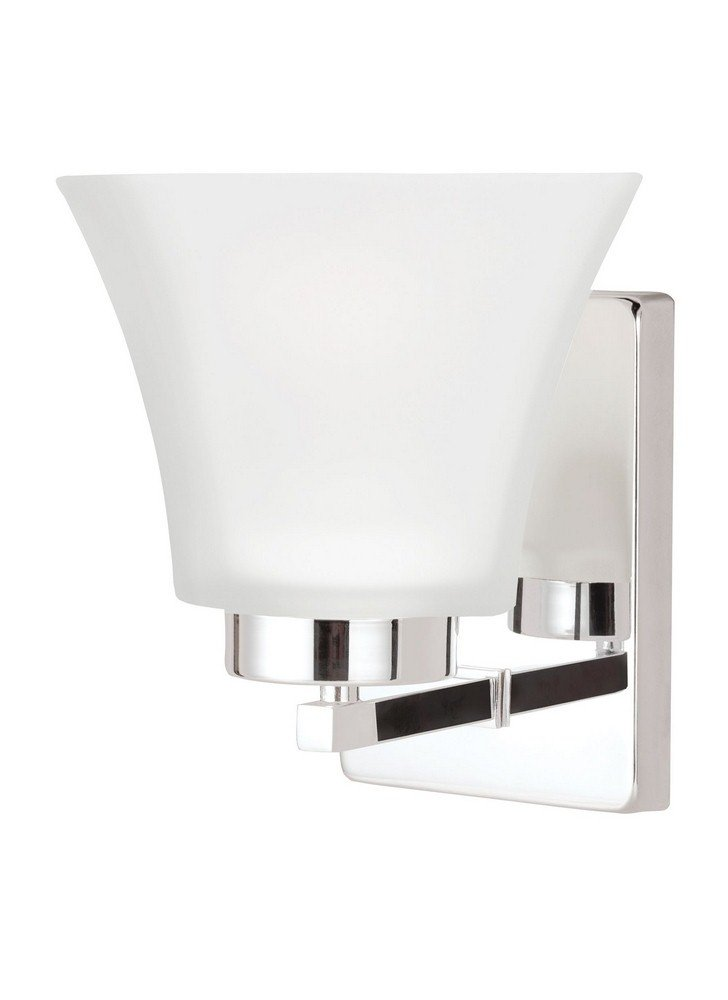 Sea Gull Lighting 4111601EN3-05 Bayfield Wall Sconce, 1-Light LED 9.5 Watts, Chrome