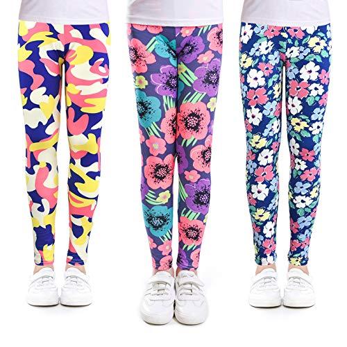 slaixiu 3-Pack Printing Flower Girl Leggings Kids Classic Pants 4-13Y(No.23_SUAA_10-11,80#)]()