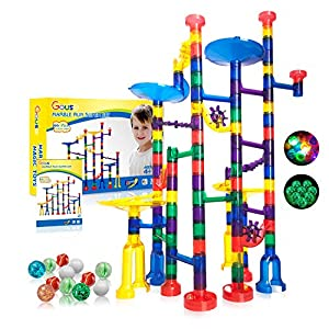 Best Epic Trends 51rt8iz5fIL._SS300_ Gouso 166Pcs Glowing Marble Run for Kids - Marble Maze & Building Block Brain Game STEM Toys Super Fun Gifts for Kids…