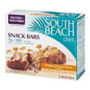 South Beach Diet Snack Bars Whipped Peanut Butter Flavored - 5 CT
