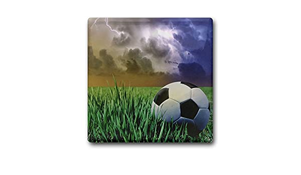Posavasos cuadrados de corcho con diseño de futbolín para cocina ...