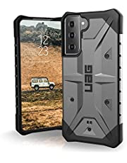 URBAN ARMOR GEAR UAG Designed for Samsung Galaxy S21 5G Case [6.2-inch Screen] Rugged Lightweight Slim Shockproof Pathfinder Protective Cover, Silver