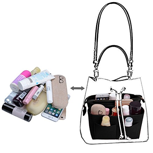 Purse Organizer,Bag Organizer,Insert purse organizer with 2 packs in one set fit LV NeoNoe Noé Series perfectly (Black) by ZTUJO (Image #5)
