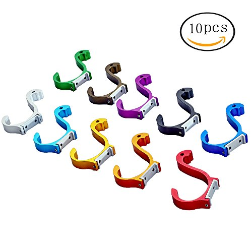 FF Elaine Swan Style Coat Hooks Wall Mounted Decorative Hook Hanger for Towel (10 Colors ,10-Pack)