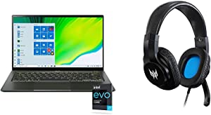 "Acer Swift 5 Intel EVO Thin & Light Laptop, 14"" Full HD Touch, Intel Core i7-1165G7, Intel Iris Xe Graphics, 16GB LPDDR4X, 1TB NVMe SSD, Wi-Fi 6, FPR with Gaming Headset"