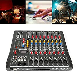 TFCFL Professional Audio Mixer Sound Board Console Desk System Interface 8 Channel Digital USB Bluetooth MP3 Computer…
