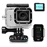 Pyle PSCHD90SL eXpo Hi-Res Mini Action Video Camera with 20 Mega Pixel Camera, 2-Inch LCD Screen and Wi-Fi Remote (Gray)