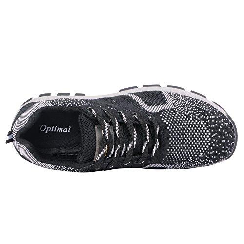 Optimale Vrouwen Veiligheidsschoenen Werkschoenen Stalen Neus Schoenen Zwart