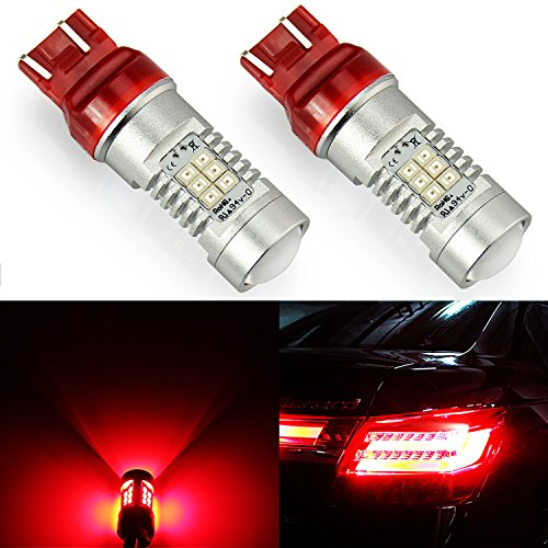 JDM ASTAR 1260 Lumens Extremely Bright PX Chipsets 7440 7441 7443 7444 992 LED Bulbs ,Brilliant Red (Review Sedan Toyota Yaris)