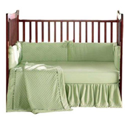 Baby Doll Bedding Heavenly Soft Crib Bedding Set, Sage ()