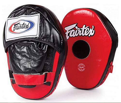 Fairtex fmv10クラシックPro Focus Mitts Punchingトレーニングタイ式ボクシング レッド/ブラック