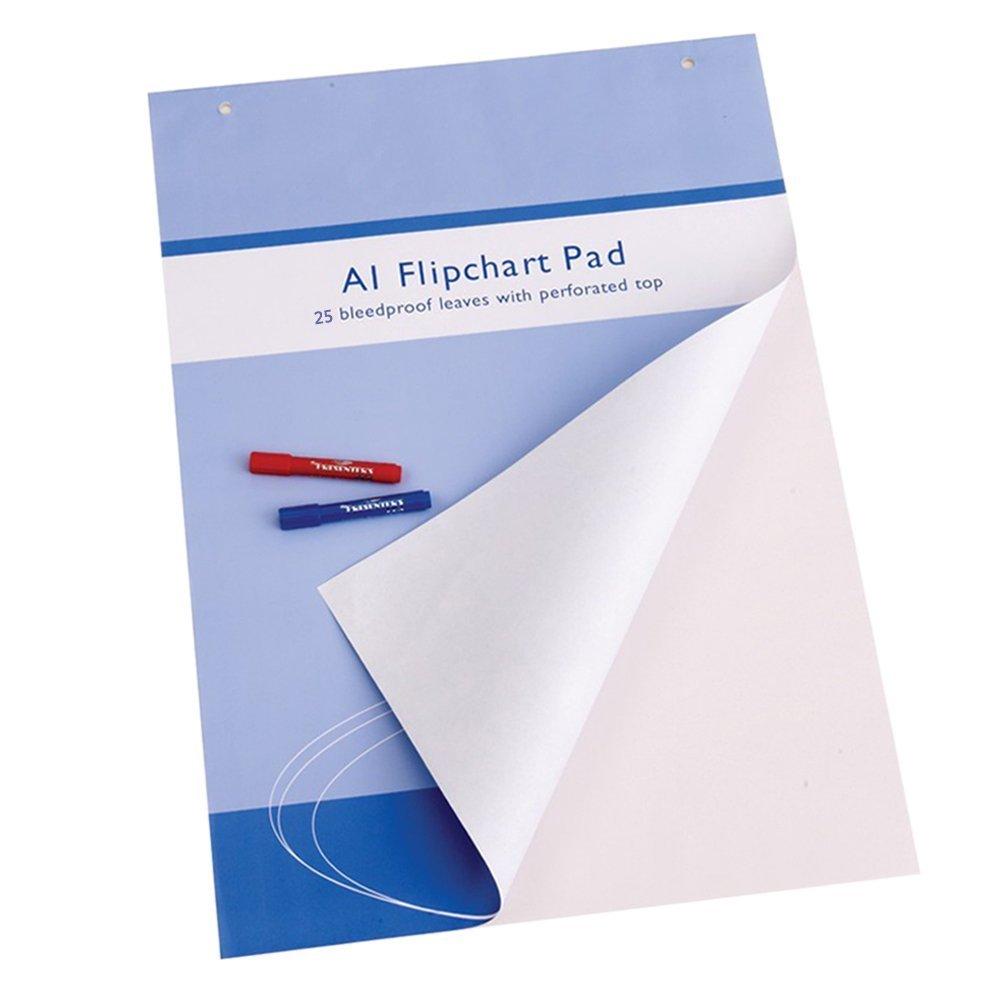 VIZ-PRO Tableau à feuilles mobiles/Flipchart papier, 841 x 594mm, 25 feuilles par bloc Zhengzhou Aucs Co. Ltd. VCPAD25