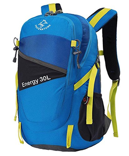 uomini e donne sacchetto di alpinismo professionali borsa a tracolla impermeabile borsa da viaggio esterna zaino esterno 30l ultraleggero ( colore : Blu , dimensioni : 30L )