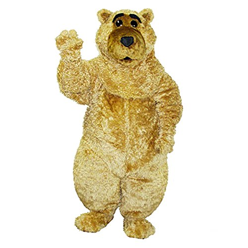 Cute Bear Curly Mascot Costume