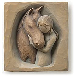 Willow Tree hand-painted sculpted Plaque, Quiet Strength