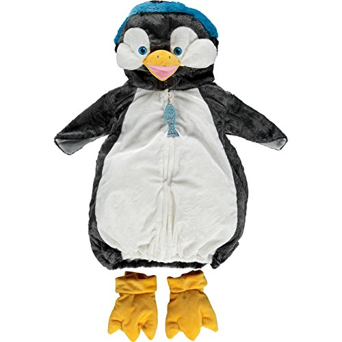 Deluxe Penguin Costumes (Dream Play Imagine Furry Animal Plush Deluxe Costume (24 months, Grey Penguin))