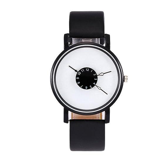 SMARTLADY Relojes Mujer Baratos, Cuero PU Analógico Cuarzo Elegantes Relojes de pulsera Oferta (Negro