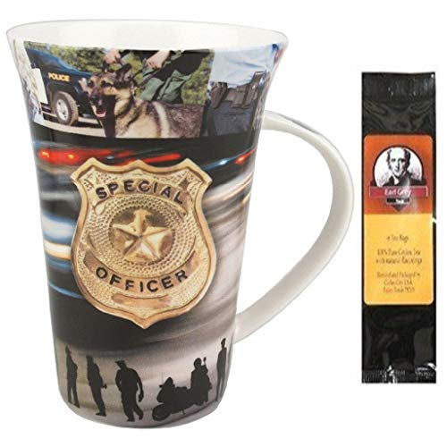 (Police Officer, to Serve and Protect Mug in a Matching Gift Box 6 Tea Bags, Bundle 2 Items )