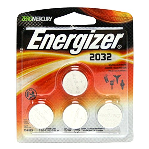 Energizer Zero Mercury 3 V cc Lithium Batteries 2032BP - 4 c