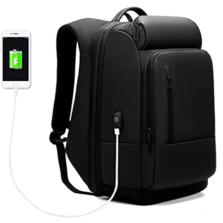 Business Laptop Backpack Water Repellent Functional Rucksack with USB Charging Port Large Capacity Fits 17.3 Inch Laptop Durable Travel Laptop Backpacks College School Computer Bag for Men Women