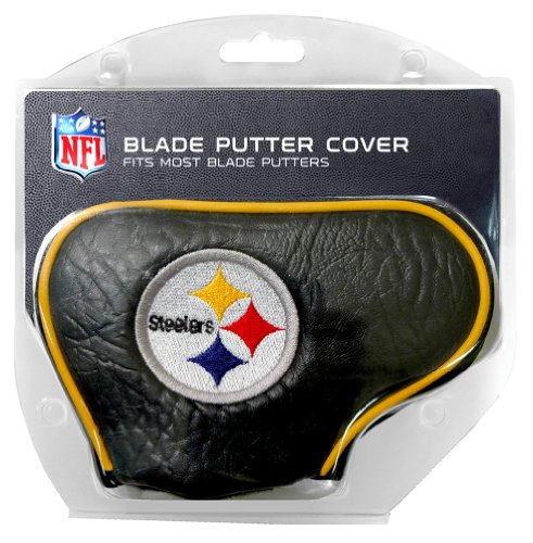 Team Golf NFL Pittsburgh Steelers Golf Club Blade Putter Headcover, Fits Most Blade Putters, Scotty Cameron, Taylormade, Odyssey, Titleist, Ping, Callaway