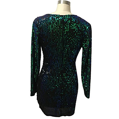 Party Evening Long Rhinestone Embellished Green Women's Sexy Sleeve lexiart Dress nS7qxZT0w
