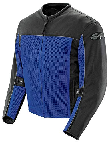 Joe Rocket 'Velocity' Mens Blue/Black Mesh Motorcycle Jacket - Large