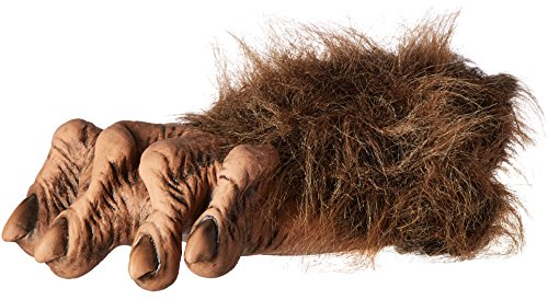 Zagone Werewolf Feet, Brown Faux Fur, Latex Toes/Feet